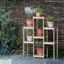 Blumenregal Kiefer, 3-stufig, 98 x 30 x 90/120