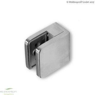 Glashalter Edelstahl für VSG 8,0 + 8,75 mm,  Set (4 Stück)