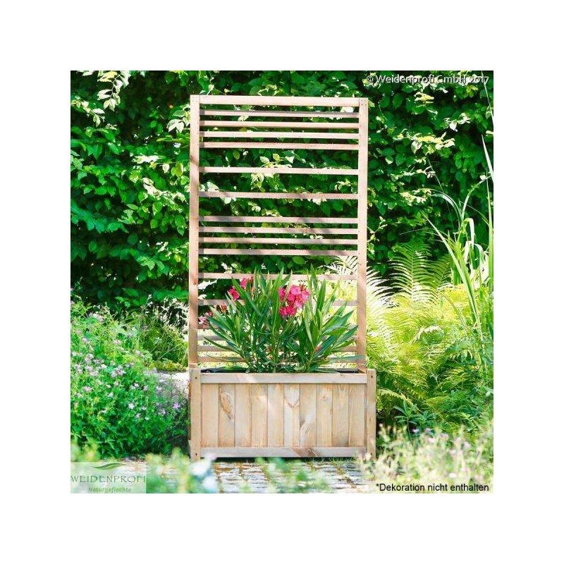 pflanzkasten mit rankgitter aus l rchenholz 80 x 40 x 40. Black Bedroom Furniture Sets. Home Design Ideas