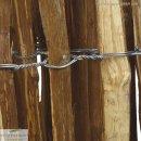 STAKETENZAUN aus unbehandeltem Haselnussholz 300 x 90 cm