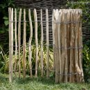 STAKETENZAUN aus unbehandeltem Haselnussholz 300 x 120 cm