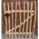 STAKETEN -TOR aus unbehandeltem Haselnussholz 100 x 90 cm