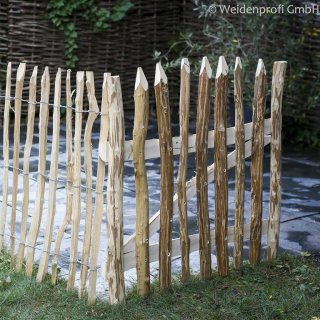 STAKETEN -TOR aus unbehandeltem Haselnussholz 100 x 120 cm