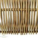Beeteinfassung Robinie, senkrecht geflochten, 60cm x 60cm