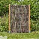 Haselnusszaun Universal -LATO- mit seitlichem Rahmen, 90cm x 180cm