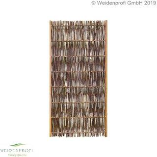 Weidenzaun Standard -LATO- mit seidlichem Rahmen, 90cm x 180cm