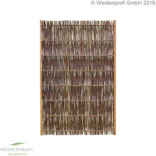 Weidenzaun Standard -LATO- mit seidlichem Rahmen, 120cm x 180cm