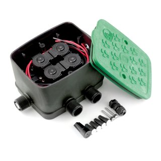 """Antelco Ventilstation, Ventil Box, 4 Magnetventile 9V, 3/4"""" AG, fertig montiert"""