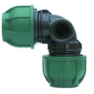 """PE Winkel 90° - Brauchwasser - IG  für Pop-Up Regner 25x25x1/2"""" IG"""