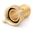 """Schlauchverschraubung Messing (versch. Größen) 1"""" x 25 mm"""