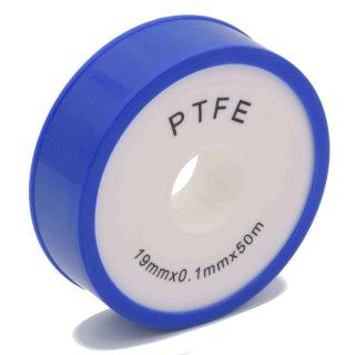 Teflonband Breite 19 mm, 50 m Rolle PTFE Gewindedichtungsband