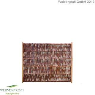 Weidenzaun LATO Solid, senkrecht geflochten, B 120cm x H 100cm