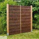 Weidenzaun LATO Solid, senkrecht geflochten, B 120cm x H 200cm