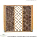 Weidenzaun CIRCO Elegant, waagerecht geflochten, 90 x 180