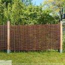 Weidenzaun BALDO Natur, waagerecht geflochten 180cm x 150cm