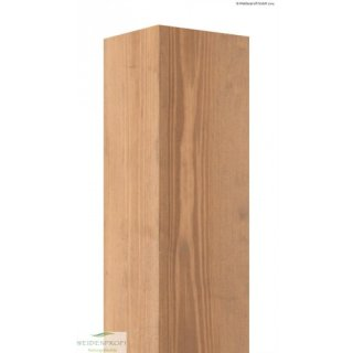 Holzpfosten Kiefer 4-kant, gebeizt