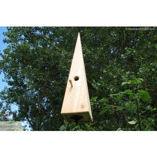 Nistkasten Lärche Vogeldorn mit Holzsitz