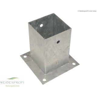 Aufschraubhülse für Vierkantpfosten 71 x 71 mm aus Eisen