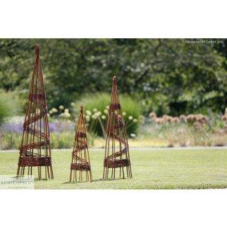Rankobelisk Pyramide aus Weide - 100 cm hoch