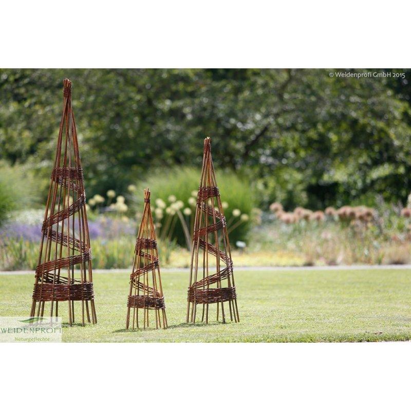 rankobelisk pyramide aus weide 180 cm hoch. Black Bedroom Furniture Sets. Home Design Ideas