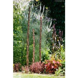 Rankstab aus Haselholz mit Weide umflochten - 130 cm