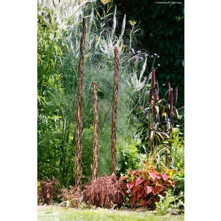 Rankstab aus Haselholz mit Weide umflochten - 160 cm